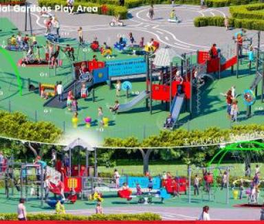 design of the memorial gardens play area